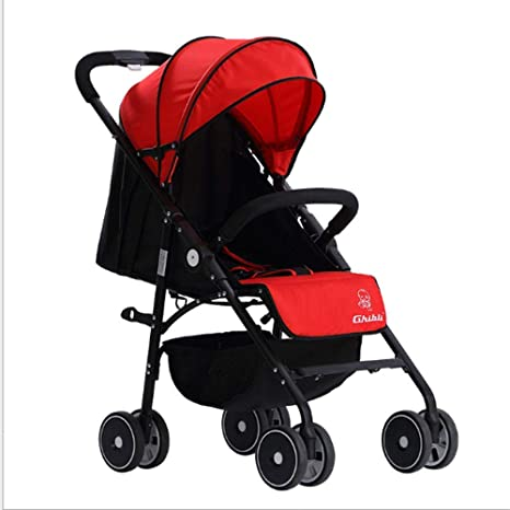 Opinión sobre Cochecito de bebé, Cochecito Plegable Ligero, Cochecito de Ciudad de Alto Paisaje, Rojo para niños