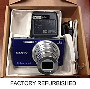 Sony Cyber-shot DSC-W730 16.1MP Digital Camera 8x Optical Zoom HD 720p Video Movies Panorama SteadyShot (Blue) - {Brown Box Packaging}