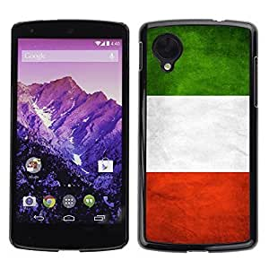 Shell-Star ( National Flag Series-Italy ) Snap On Hard Protective Case For LG Google NEXUS 5 / E980 by icecream design