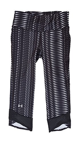 Under Armour Women's UA Printed Fly-By Compression Capri XS (US 0-2) Black