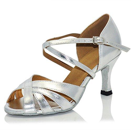 Misu De Tango 2 Toe Danse 75 Chaussures Salle Salsa Femmes Sandales Talon Peep Pratique Bal Latine De Avec 47fBtqqw