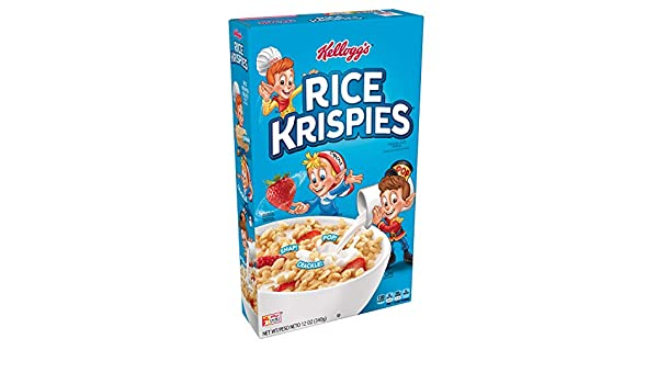 Amazon.com: Kelloggs Rice Krispies, Breakfast Cereal, Toasted Rice Cereal, Fat-Free, 12 oz Box: