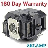 Sklamp ELP-LP55 / ELP-LP56 Replacement Lmap Bulb with Housing for Epson EH-DM3 MovieMate 60 62,Epson EB-W8D Projectors