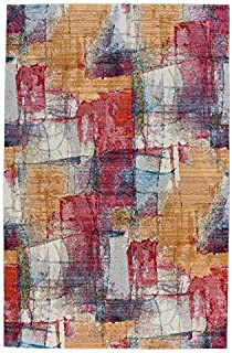 product image for Capel Flame-Canvas Ruby 9' x 13' Rectangle Machine Woven Rug