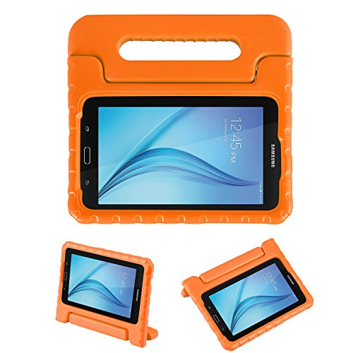 NEWSTYLE Tab E Lite 7.0 & Tab 3 Lite 7.0 Kids Case - Shockproof Light Weight Protection Handle Stand Kids Case for Samsung Galaxy Tab E Lite 7.0 Inch 2016 & Tab 3 Lite 7.0 Tablet (Orange) (Galaxy Tab 3 Case Handle)