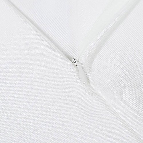 HLBandage Ansatz Kunstseide Weiß Schlitz Slash Verband Maxi Frontseiten One Schulter Kleid w4wUqHS
