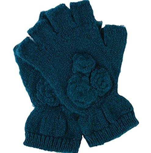 隔離火炎ユーモラスRampageレディースメタリック指なし手袋、ティール、1サイズ
