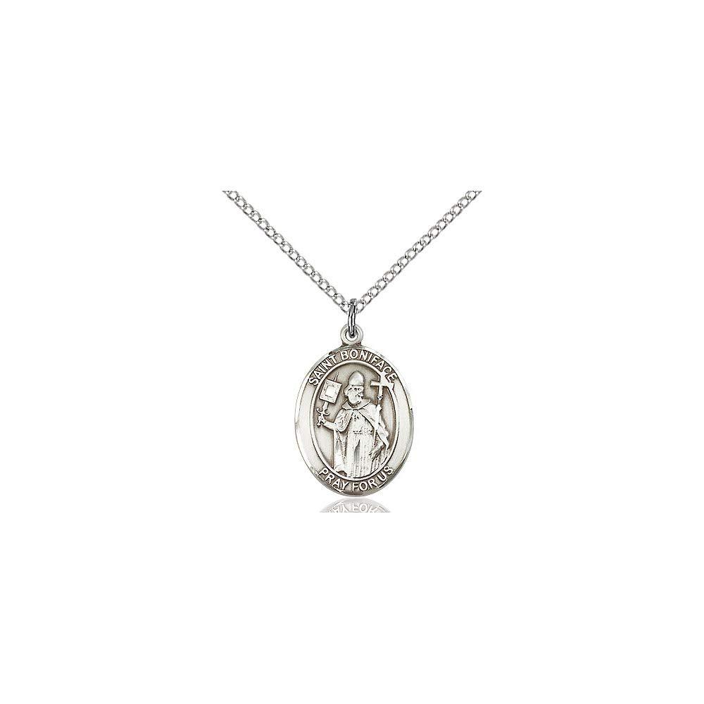 DiamondJewelryNY Sterling Silver St Boniface Pendant