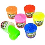 12 Pcs Noise Putty Slime Fart Sound Small Containers 1.5 Inches Assorted Colors - Perfect Toy For Kids, Boys, Girls, Party Bags, Gift, Prize - By Kidsco