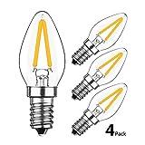 HzSane 2W LED Filament C7 Night Light Bulb, 2700K Warm White...