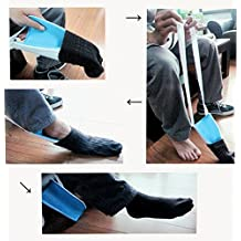 FreshGadgetz Pack of 1 Helping Hand Sock Aid To Help Elderly People Or People With Difficulties In Bending The Back And Knees; Comes In Blue And White