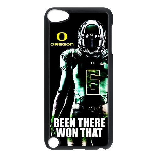 DIY Design Dream 20 Sports NCAA Oregon Ducks Footballl Print Black Case With Hard Shell Cover for iPod Touch 5th-Just DO (Ncaa Prints Shop)