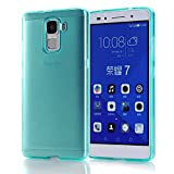 Huawei Honor 7 Case,Arbalest® Premium Transparent TPU Slim Soft Skin Protective Cover Gel Case for Huawei Honor 7 5.2 Inch - Turquoise