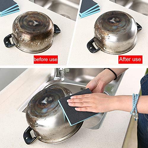 ( AIUSD Clearance , Kitchen Nano Emery Magic Clean Rub Pot Rust Focal Stains Sponge Removing Kit)