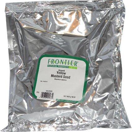 Frontier - Herb Yellow Mustard Seed – Bulk 1 lb Bag