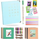 Katia 120 Pockets 3-inch Photo Album Accessories for HP Sproket/Polaroid Snap Touch/Canon Ivy Wireless Bluetooth Mobile Portable Mini Photo Printer Album/Frames/Hanging Frames - Ice Blue