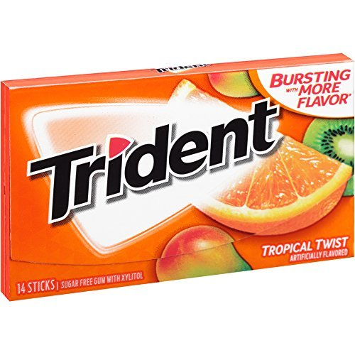 Trident Tropical Twist Sugar Free Gum - with Xylitol - 35 pack (35 pack)