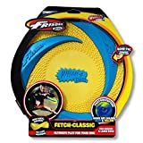 Wham-O Pets Rubber Frisbee, 9'', Yellow/Blue