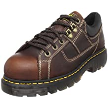 Dr. Martens Gunby Steel Toe Shoe,Teak,6 UK/8 M US Women's/7 M US Men's