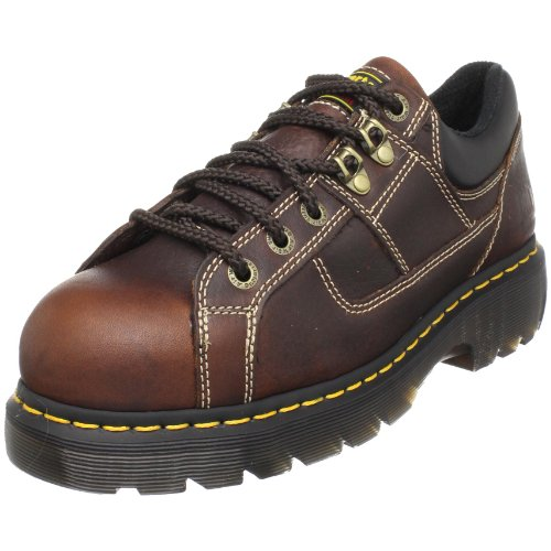 Dr. Martens Gunby Steel Toe Shoe,Teak,7 UK/9 M US Women's/8 M US Men's