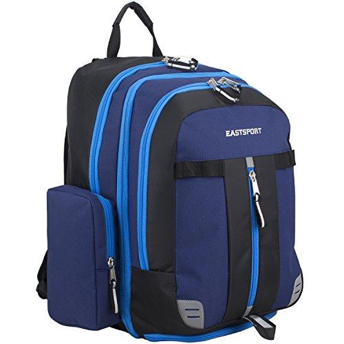 (Eastsport Oversized Expandable Backpack with Removable EasyWash Bag, Deep Cobalt Blue)