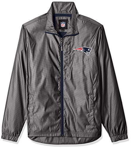 G-III Sports NFL New England Patriots The Executive Full Zip Jacket, X-Large, Charcoal Gray