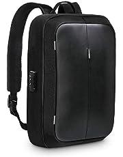 "RedLemon Mochila Backpack Antirrobo De Lujo con Candado, Múltiples Compartimentos para Laptop de 15"" y Tablet, Puerto USB Integrado, Impermeable, Diseño Moderno Elegante Minimalista, Ergonómica"