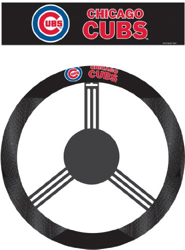 MLB Chicago Cubs Poly-Suede Steering Wheel Cover (Cub Covers)