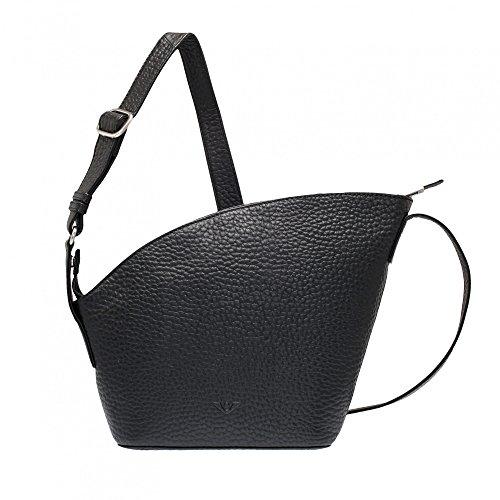 VOi Hirsch Umhängetasche 21870 Leder Damen Crossover Bag elegante Schultertasche aus weichem Soft Leder in Schwarz b4e3qdF