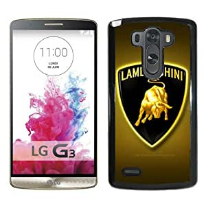 Lamborghini logo 10 Black Recommended Customized Design LG G3 Case