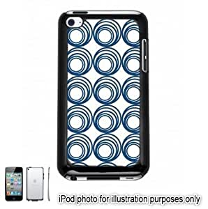 Blue Circle Swirls Pattern Apple iPod 4 Touch Hard Case Cover Shell Black 4th Generation