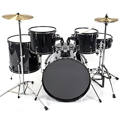 Best Choice Products® Drum Set 5 PC Complete Adult Set Cymbals Full Size New Drum Set from Best Choice Products