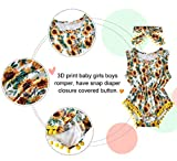 Baby Girls Rompers Sunflowers Jumpsuits Infant Boys