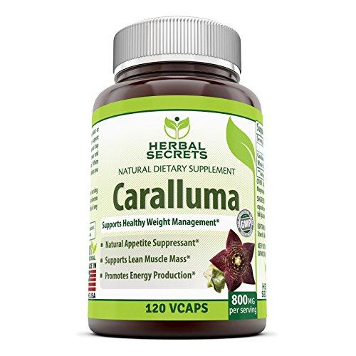 Herbal Secrets Caralluma 800 Mg Per Serving 120 Veggie Capsules
