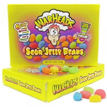 Warheads Sour Jelly Beans 4 Oz (113G) -