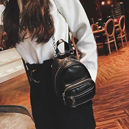 Women Girls Fashion Leather Crossbody Bag School Bag Backpack Satchel Large Tote Trave Chest Bag Zipper by SHL (Image #1)