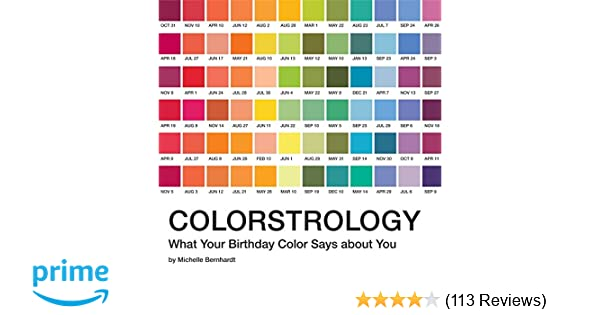 Colorstrology: What Your Birthday Color Says about You: Michele ...
