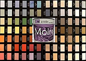 MOIRE WILD SILK ACRYLIC BASED MULTIPLE EFFECT DECORATIVE COATING METALLIC PLASTER PAINT COLOR CHART GUIDE
