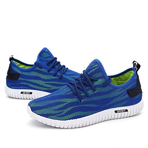 Santiro Unisexo Zapatillas Deportivas Respirable Sneaker para Hombre Mujer. azul marino
