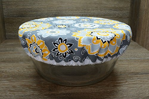 Eco-Friendly//Reusable//Bowl Cover//1 Large//Sunflower