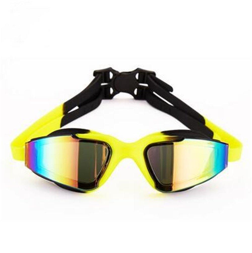 noir And jaune  KOMNY les lunettes, les lunettes de natation anti - brouillard, les lunettes de natation professionnelle a l'enseHommesceHommest, formation anti - brouillard Les dames imperméables et sport sport professionnel mode cool série impe