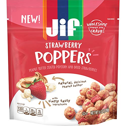 Pretzels Strawberry (Jif Poppers Peanut Butter-Coated Popcorn and Pretzels (Strawberry, Pack of 1))