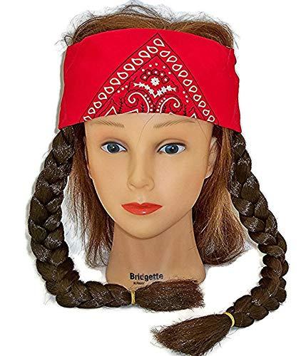 Morris Costumes Hippie Wig Brown -