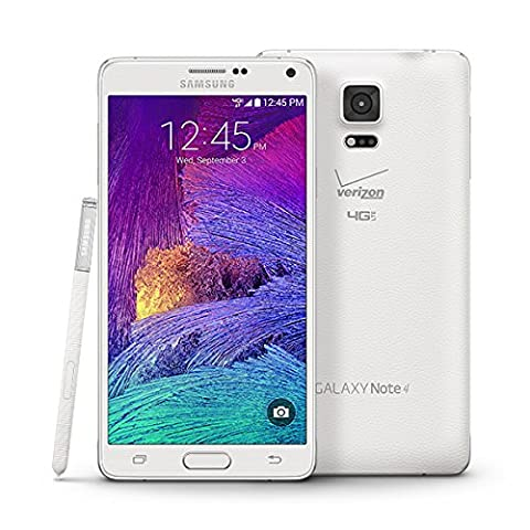 Samsung N910V Galaxy Note 4, 32GB, Verizon Network 4G LTE (Frosted White) (Unlock Phones Samsung Galaxy)
