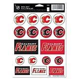 Wincraft NHL Calgary Flames Vinyl Sticker Sheet, 5'' x 7''