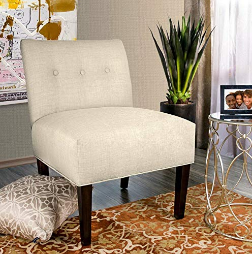 Amazon.com: Hebel Samantha Dawson 7 Tufted Accent Chair ...
