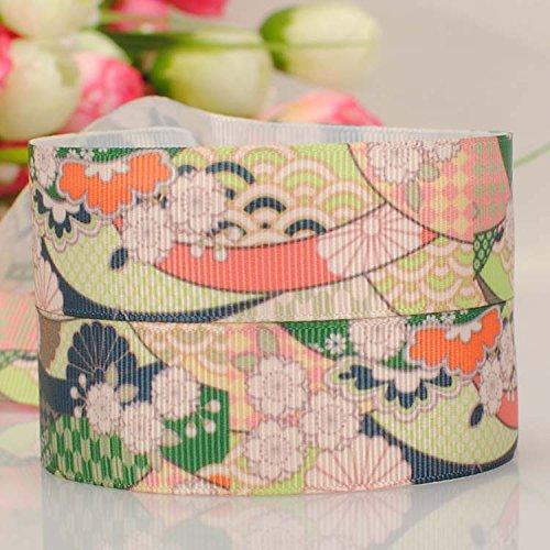 10-yards7-822mm-japanese-style-flower-cartoon-printed-gift-grosgrain-ribbon