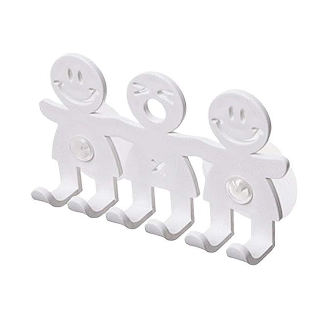 Godea Bonito Soporte para cepillos de Dientes con Ventosa para baño, Pared, Cara Sonriente, Emoji, decoración del hogar, 1, Talla única: Amazon.es: Hogar