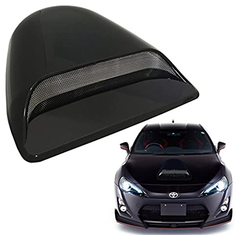 Universal JDM Style Decorative Hood Scoop Smoke Black Air Flow Intake Vent Cover Auto Car Racing USA (1996 Honda Civic Hood Cover)