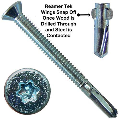 14X2 3 4  Reamer Tek Torx Star Head Self Drilling Wood To Metal Screws   5 Pound   170 Tek Screws    Tek Screws For Flatbeds  Trailers  Or Where Fastening Wood To Steel   T 30 Torx Screw Head
